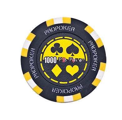 Pro Poker Clay Chip 13,5g 1000er gelb
