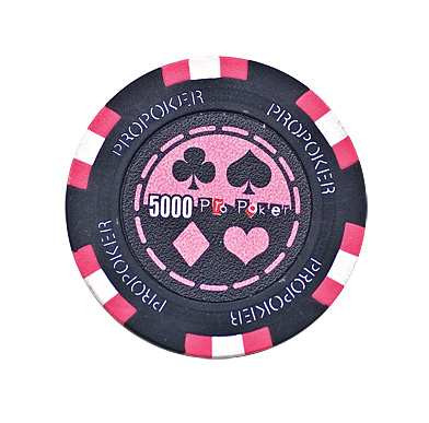 Pro Poker Clay Chip 13,5g 5000er pink