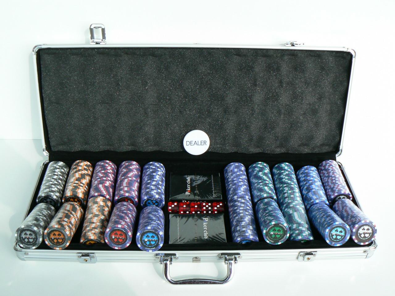 Chipkoffer Pro Poker Clay Chip 500er