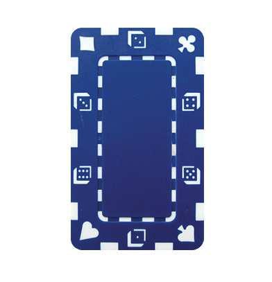 Plaque Jeton Dice 75 x 45mm blau