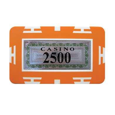 Plaque Jeton 75 x 45mm Casino 2500er orange