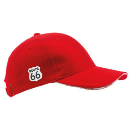 Baseball Cap Route 66 rot