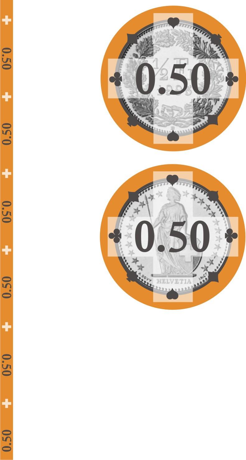 Swiss Edition Ceramic Chips Fr. 0.50