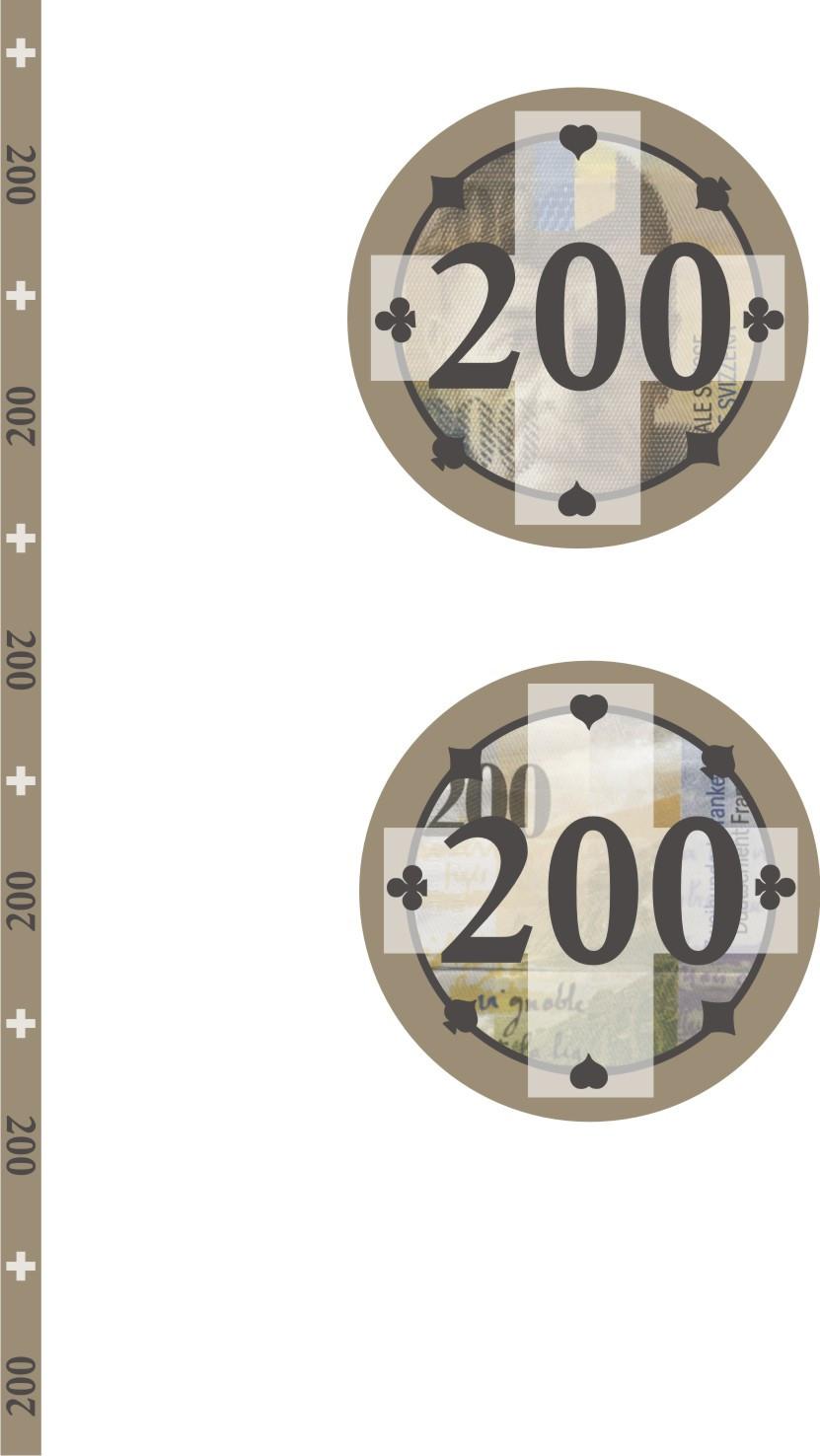 Swiss Edition Ceramic Chips Fr. 200.00