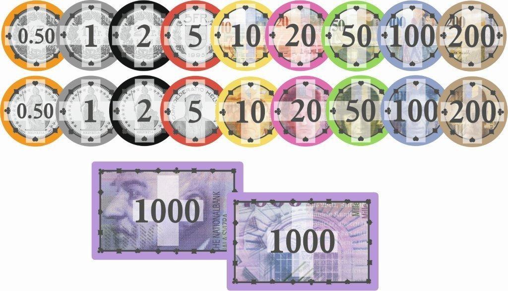 Chipkoffer mit 1000 Swiss Edition Ceramic Chips