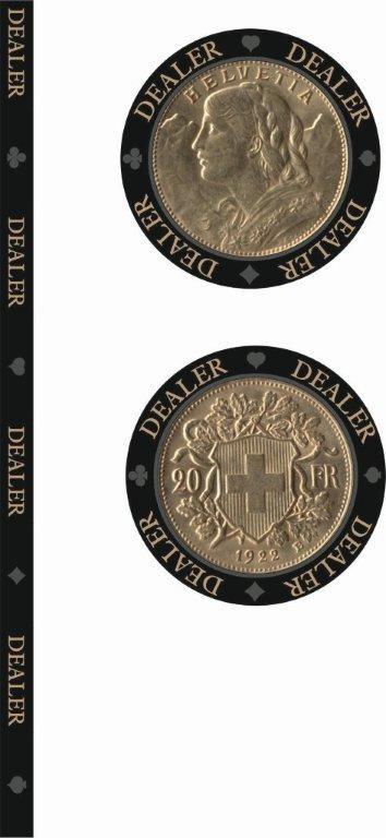Swiss Edition Ceramic Dealerbutton Gold Vreneli