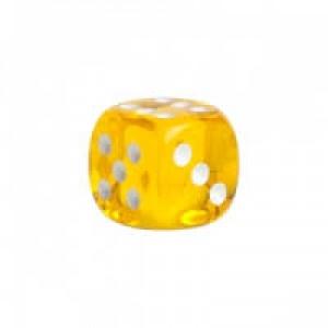 Acryl Würfel transparent gelb 18mm