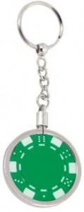 Schlüsselanhänger mit Dice Chip grün