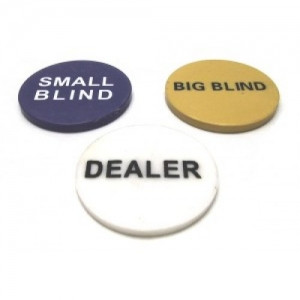 Poker Dealer Set Dealer, Small Blind, Big Blind Button