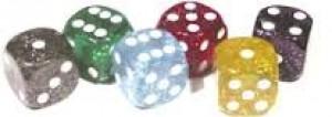 Würfel Acryl Glitter 16mm