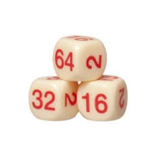 Backgammon Verdoppelungswürfel 16mm elfenbeinfarbig