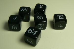 Backgammon Verdoppelungswürfel 20mm schwarz