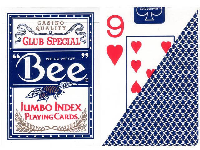 Bee Pokerkarten Blau Jumboindex