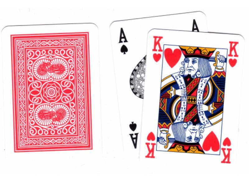 Old Trophy Vollplastik Karten Rot