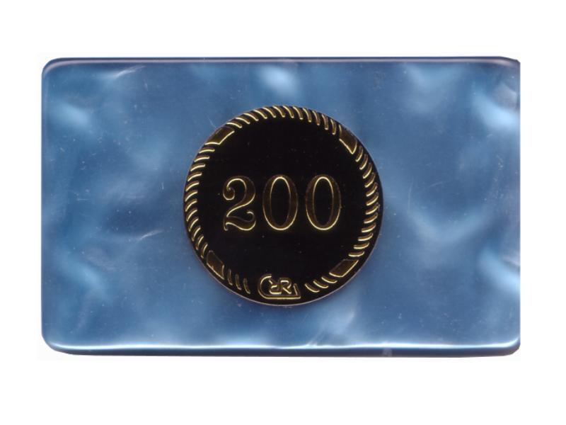 Plaque 200 Blau Prestige