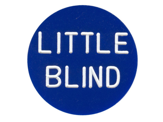 Button Little Blind Blau