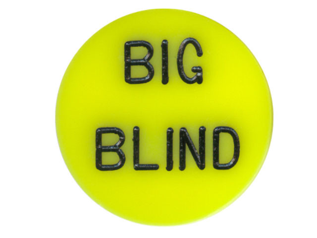 Button Big Blind Gelb