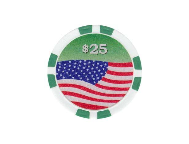 USA Chip 25$ Grün