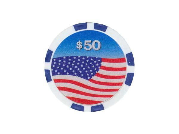 USA Chip 50$ Blau