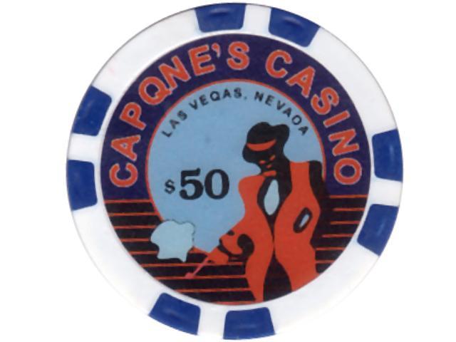 Capone's Casino Chip 50 Blau