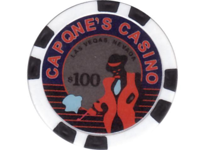 Capone's Casino Chip 100 Schwarz
