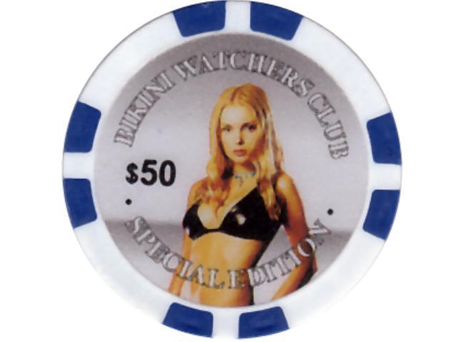 Bikini Girl Chip 50 Blau