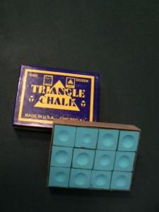 Billard Kreide Triangle hellblau