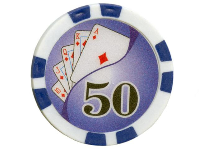 Royal Flush Chip Wert 50, 11,5gr.