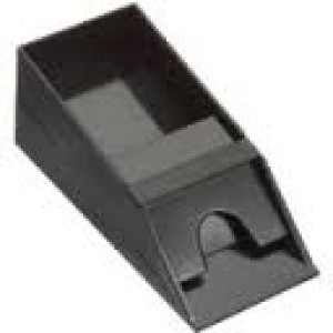 6 Deck Kartenschlitten aus Acryl schwarz matt