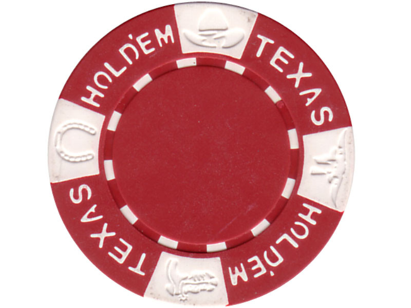 11.5g TEXAS HOLD'EM Clay - Chips, rot