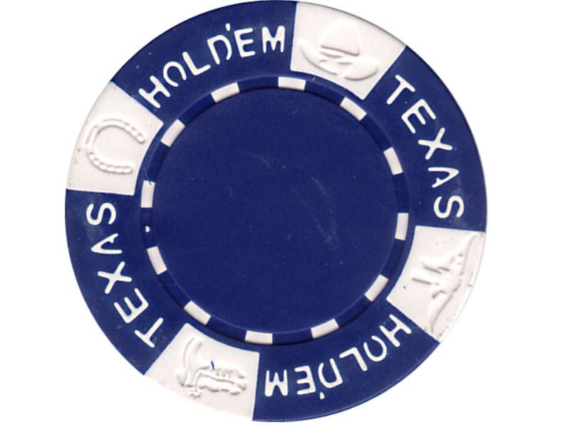 11.5g TEXAS HOLD'EM Clay - Chips, blau