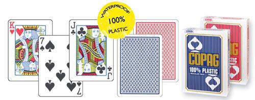Copag Plastik-Karten Blau Poker-Index