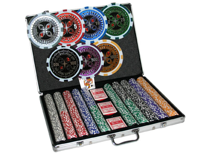 Chipkoffer Ultimate Poker Set 1000 Chips