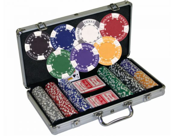 Chipkoffer mit 300 Texas Holdem Chips