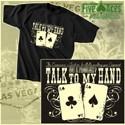 """T-Shirt """"Talk to my hand"""", Größe XXL"""