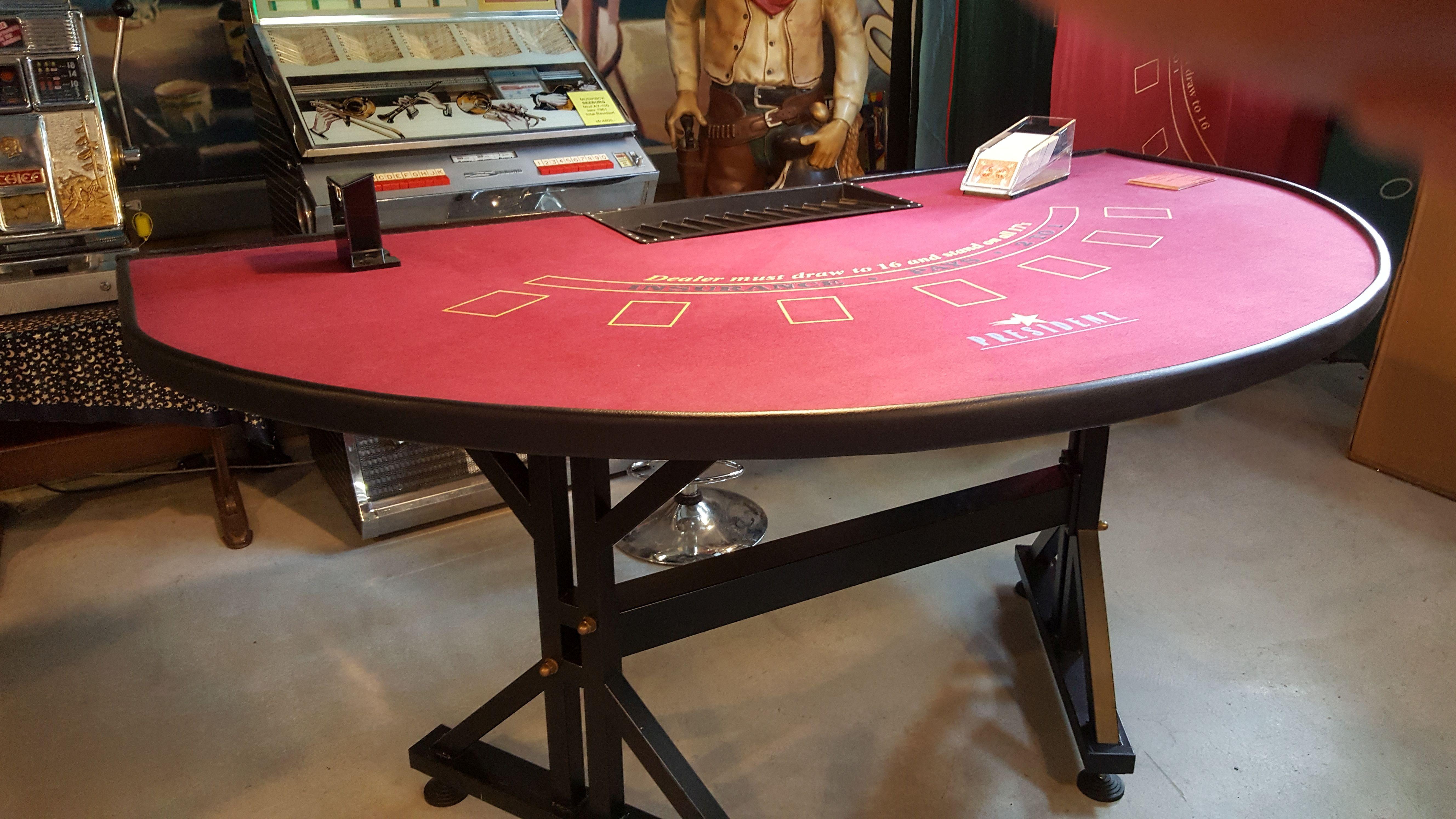 Occ. Casino Black Jack Tisch mit Metallbeinen