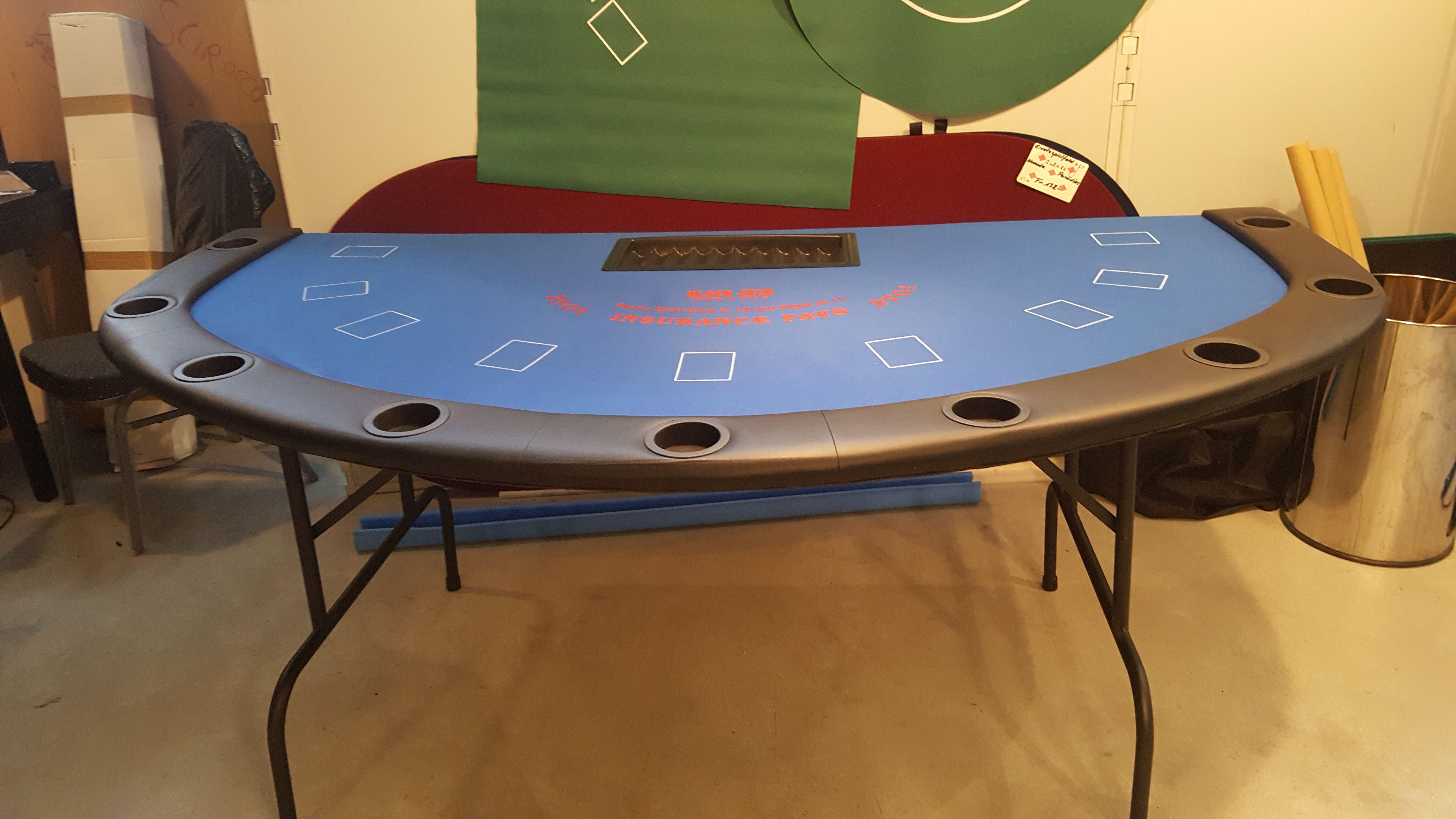 Black Jack Tisch mit Klappbeinen für 9 Spieler