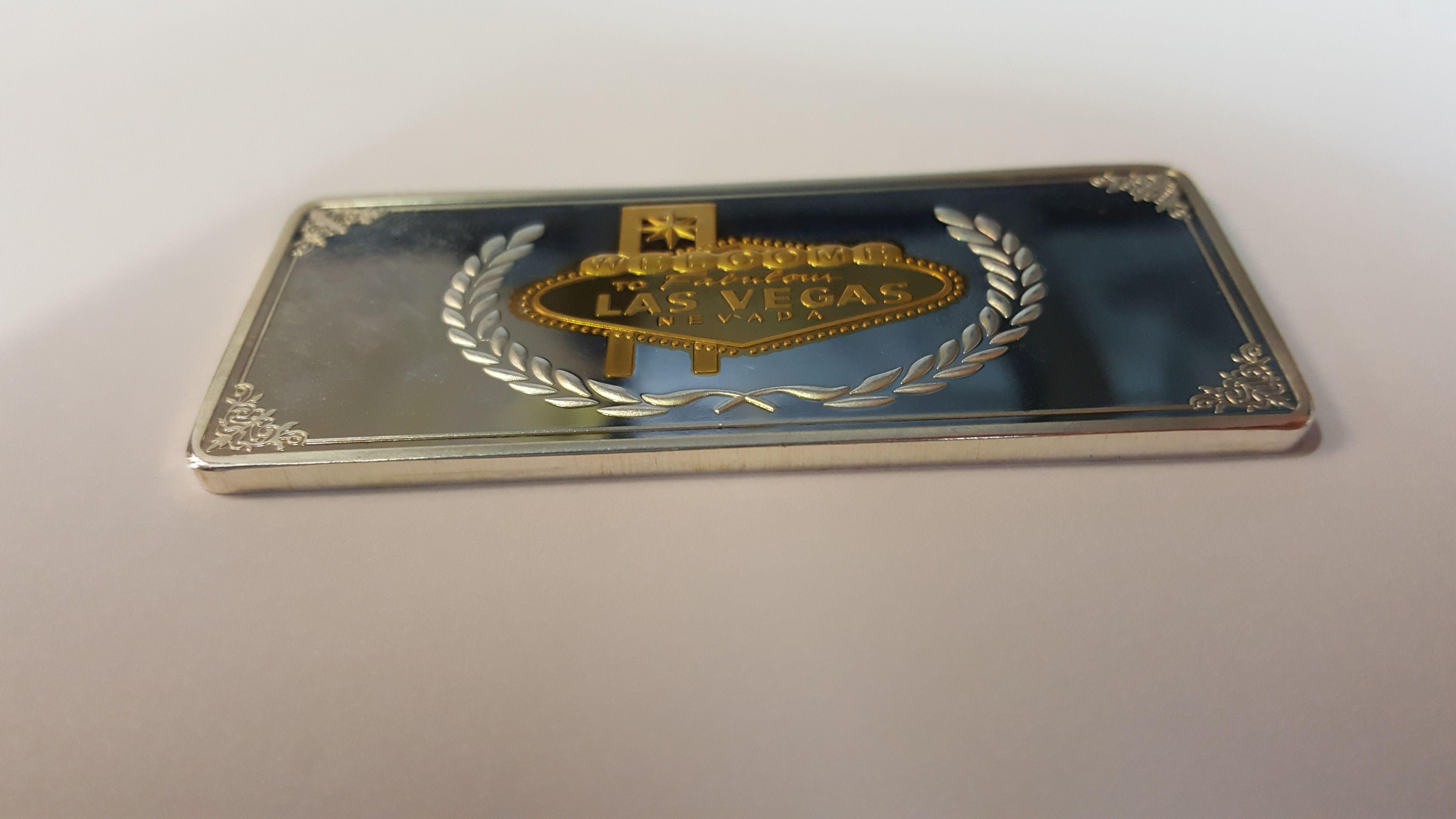 Card Guard Las Vegas rechteckig silber/gold