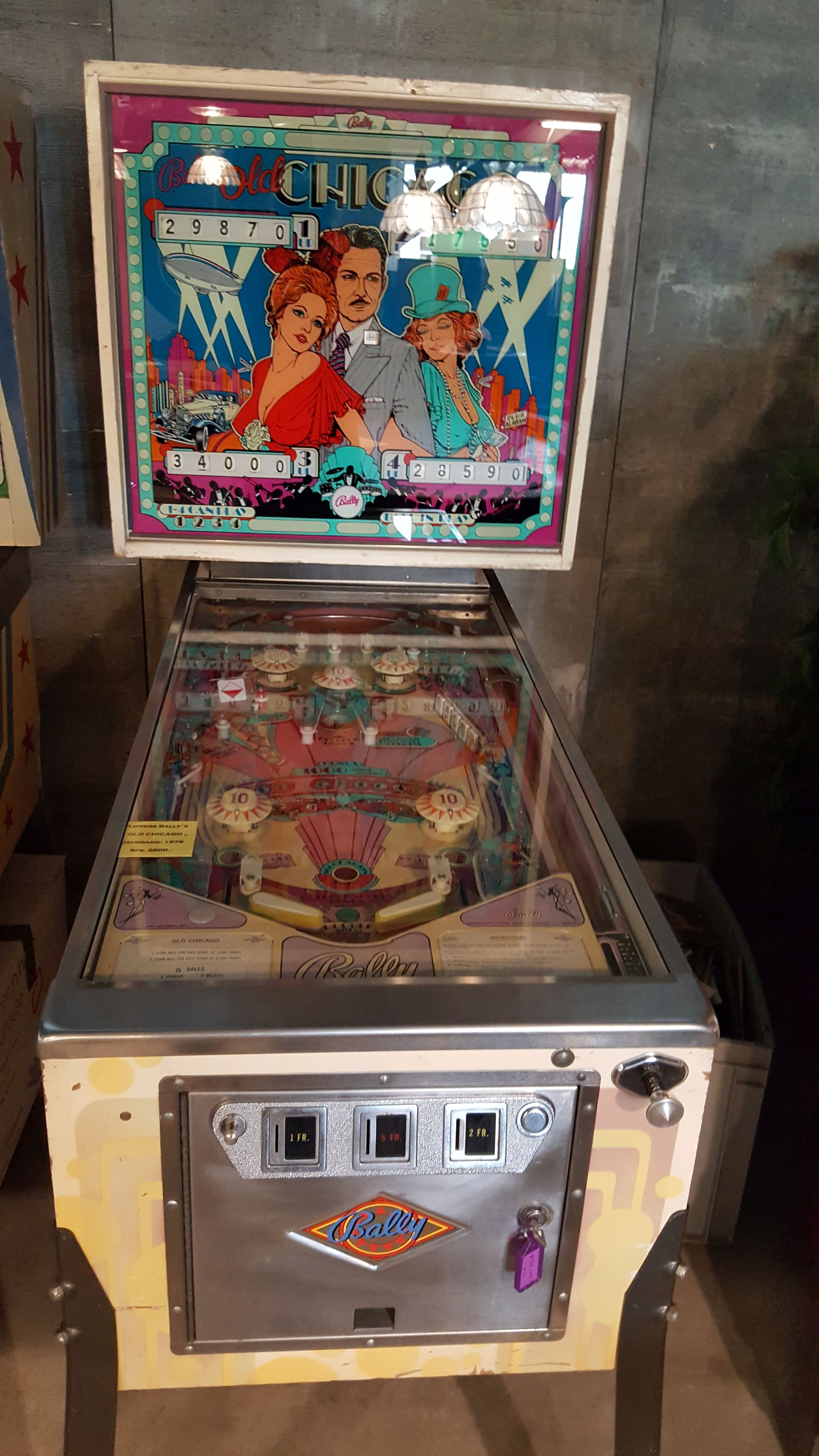 Flipper Bally's Old Chicago Jahrgang 1976