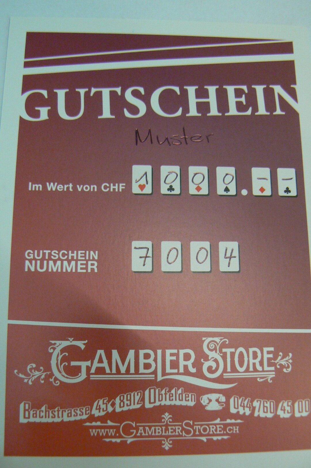 GUTSCHEIN CHF 1000.--