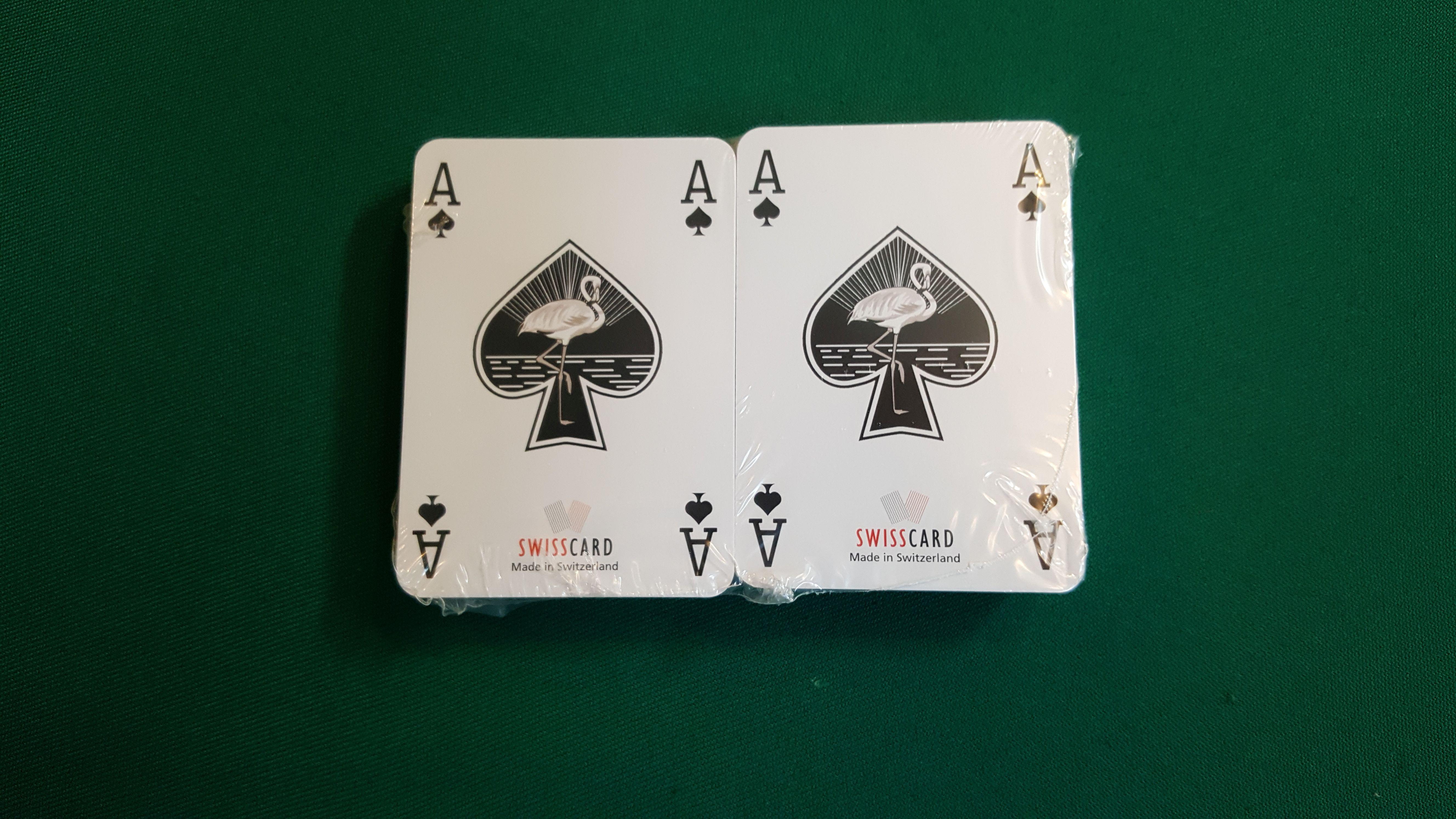 Doppelpack Pokerkarten Swisscard 4 Eckzeichen Pokerindex rot/blau